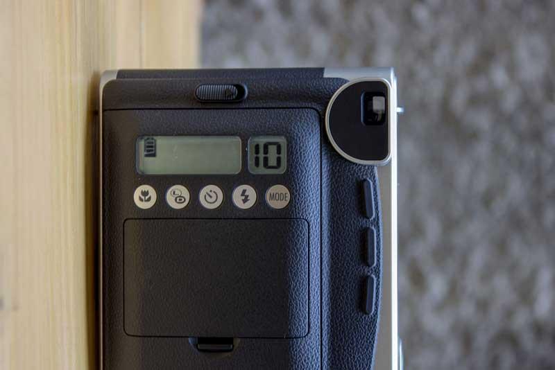 Visor de controle da Instax Mini 90