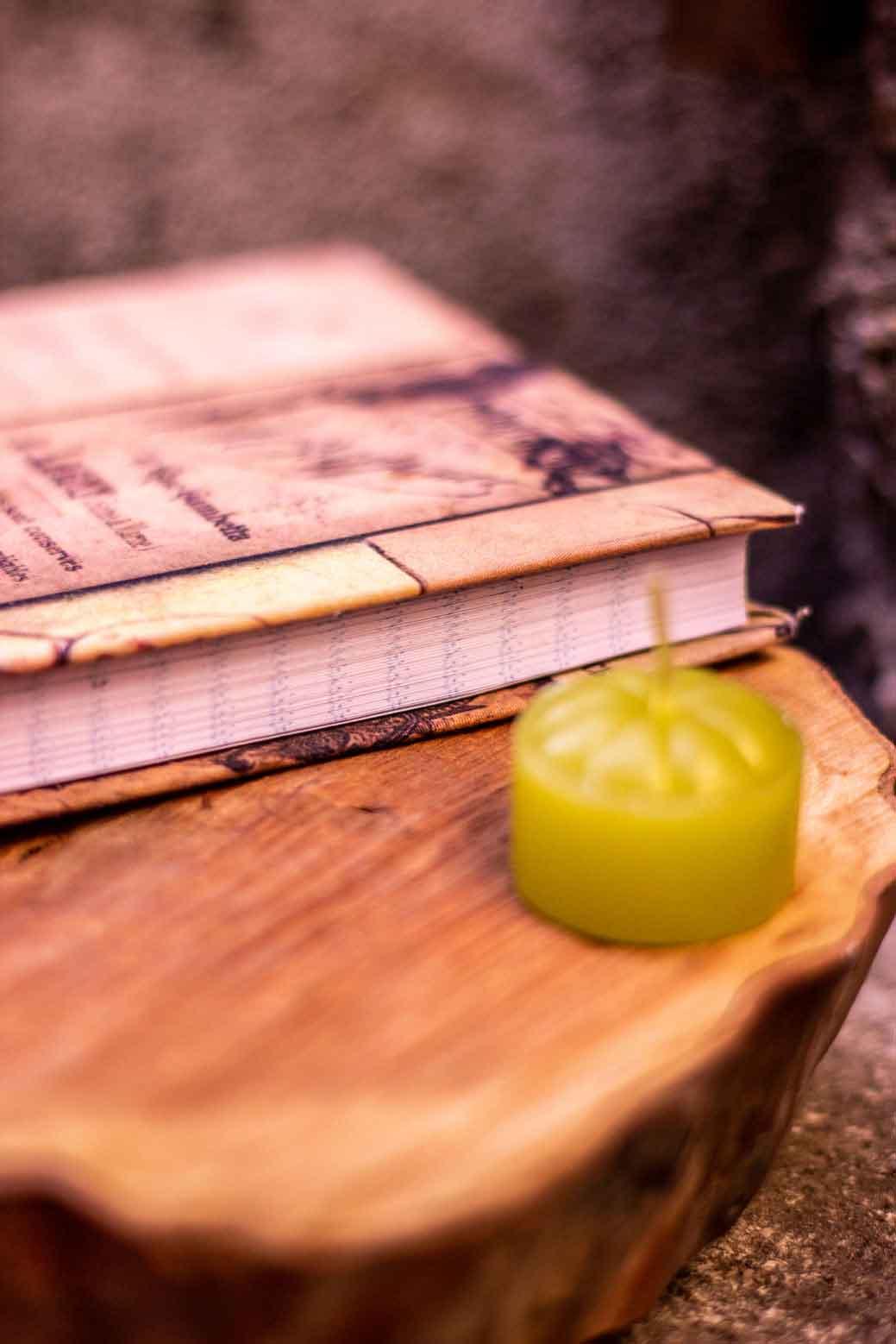 Escrevendo no caderno da gratidão