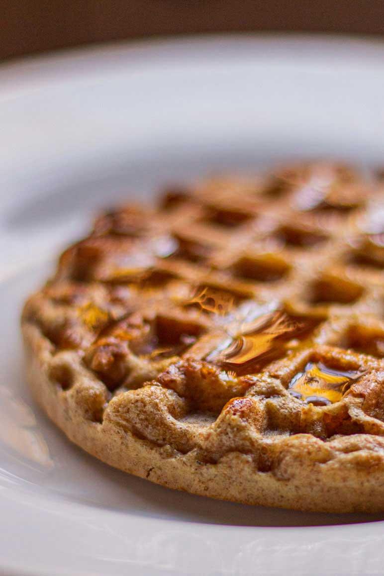 Waffal integral para minha dieta sem açúcar