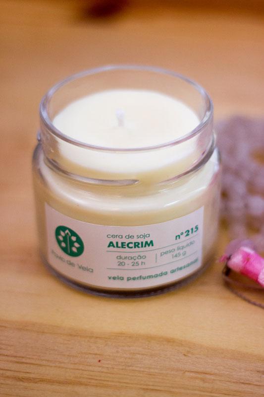 Vela aromatizada de alecrim