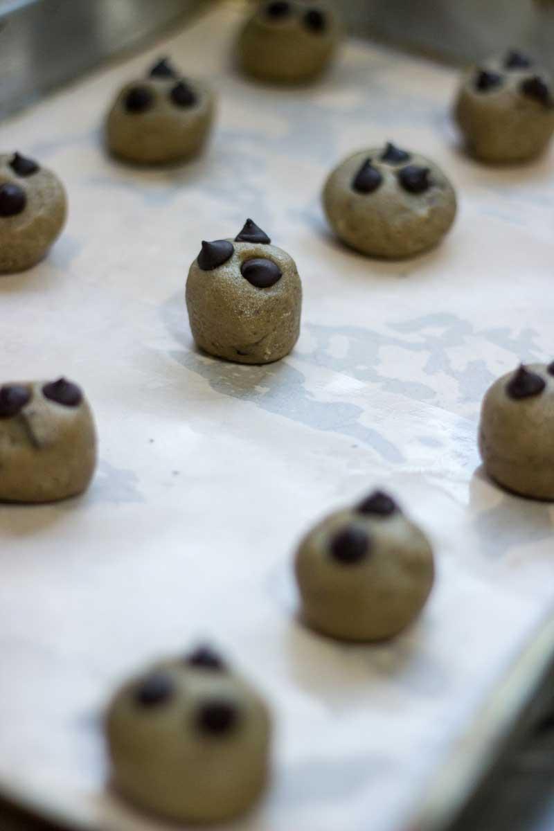 Cookies prontos para assar