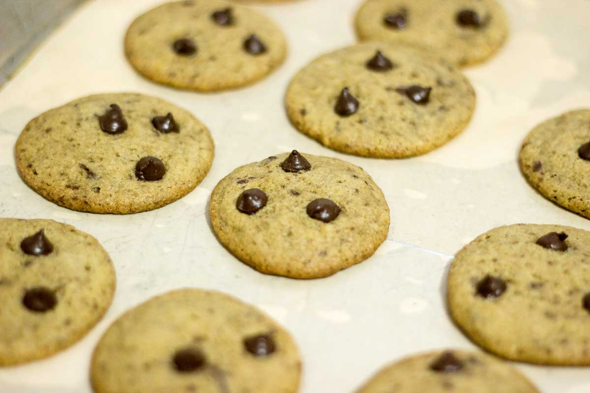 Cookie de baunilha assado