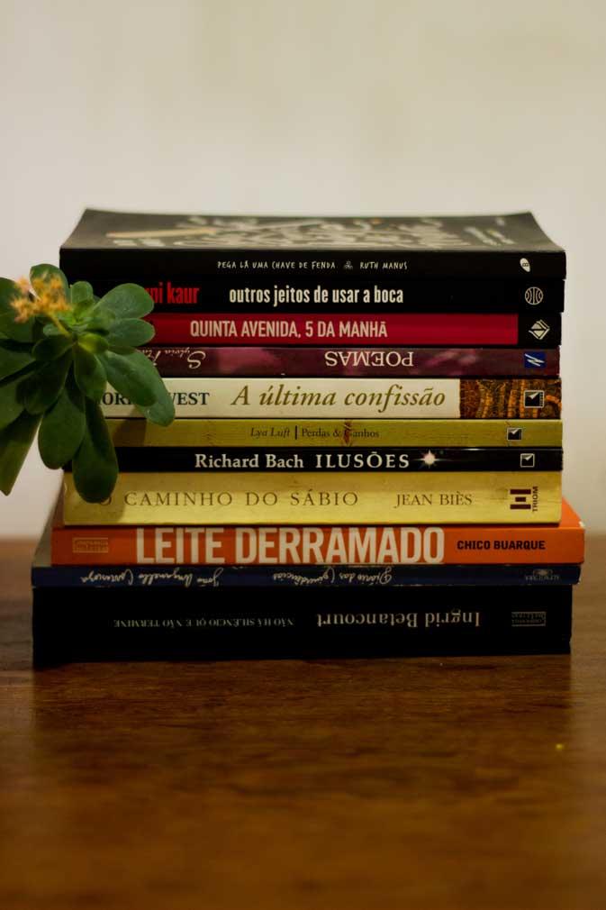 Livros restantes para serem vendidos